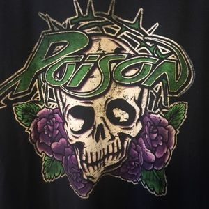 Tultex Shirts - POISON GRAPHIC BAND TEE